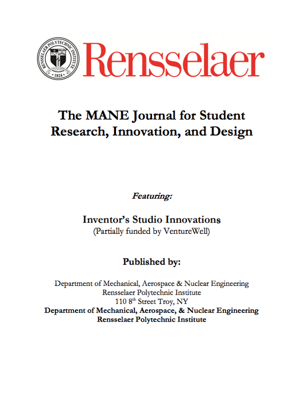 2017 Mane Student Research & Design Journal